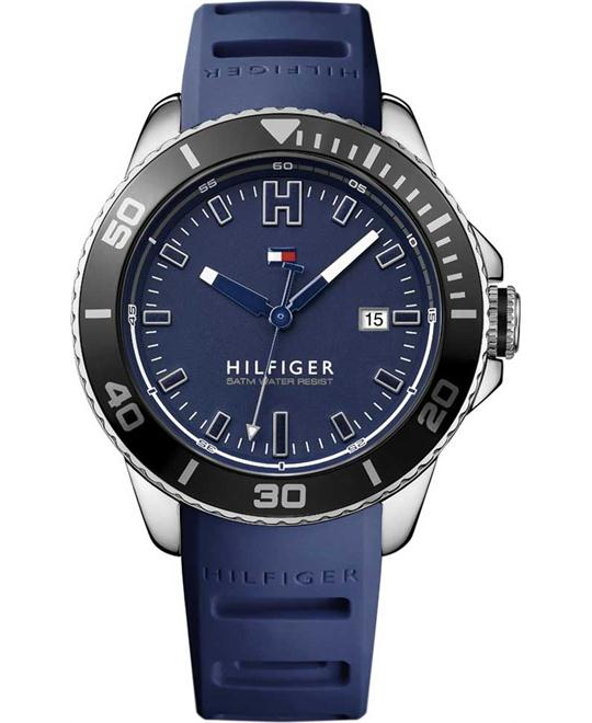 Tommy Hilfiger Wade Blue Silicone Strap Watch 46mm