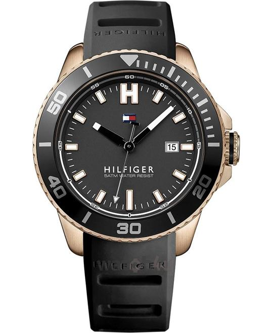 Tommy Hilfiger WADE SILICONE BLACK Watch 46mm