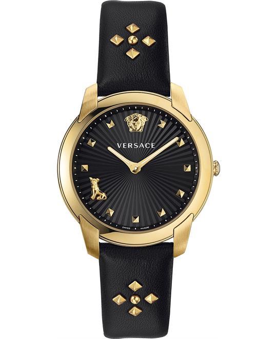 đồng hồ Versace Audrey V. Black Swiss Watch 38mm