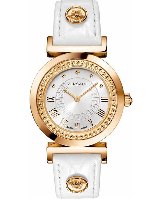 Versace Vanity Calfskin Women's Watch 35mm
