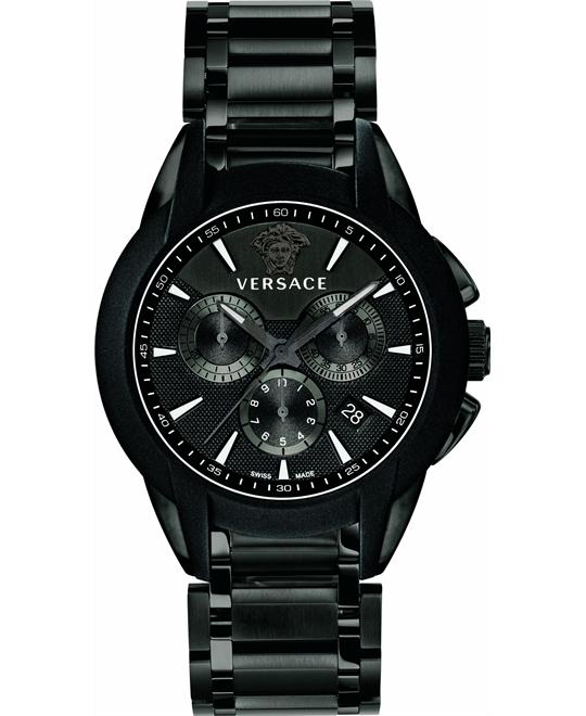 Versace Character Black Chrono Watch 42mm
