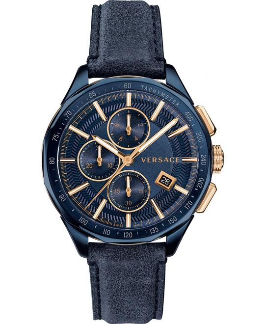 Versace Glaze Blue Vintage Watch 44mm