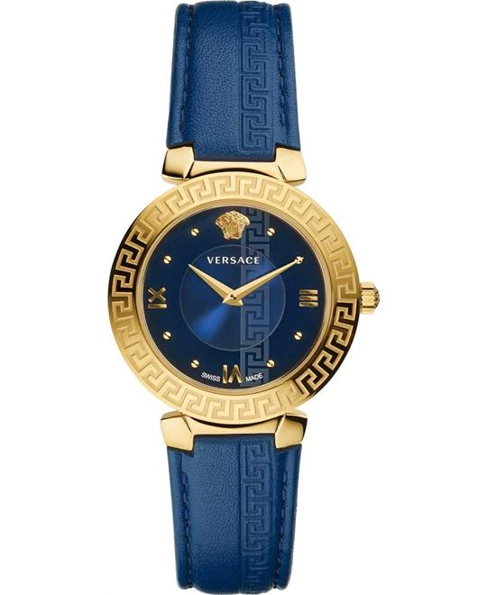 VERSACE Daphnis gold and leather Watch 35mm