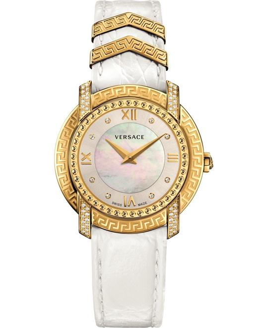 dong ho Versace Dv-25 Swiss White Ladies Watch 36mm