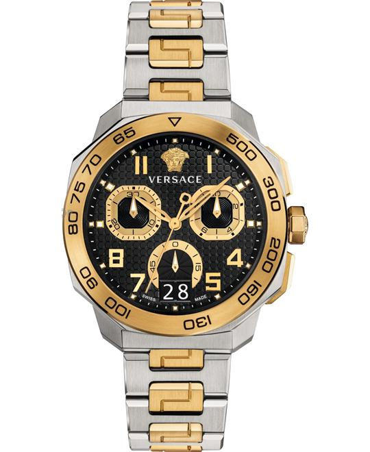 VERSACE Dylos Men's Chronograph Watch 44mm