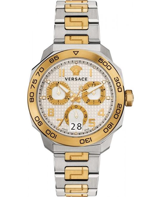 VERSACE Dylos Two Tone Chronograph Men's Watch 44mm
