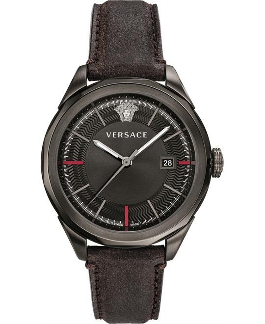 đồng hồ Versace Glaze Black Swiss Watch 43mm