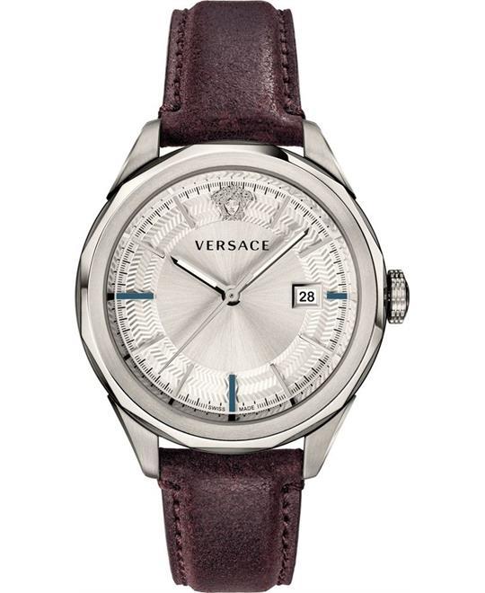 đồng hồ Versace Glaze Brown Swiss Watch 43mm