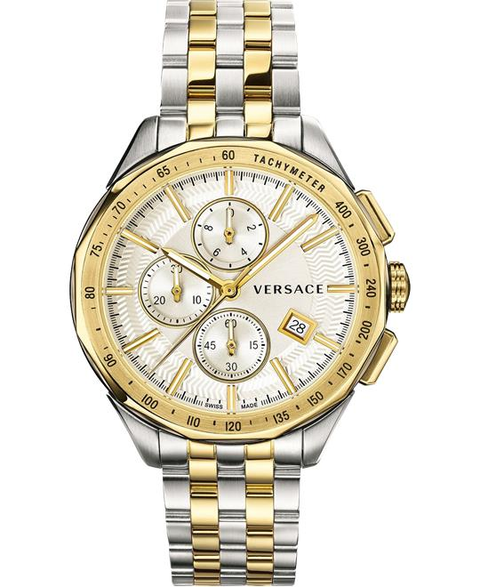 Versace Glaze Chronograph Watch 44mm