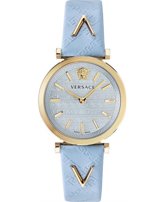 đồng hồ Versace V-Twist Light Blue Watch 36mm