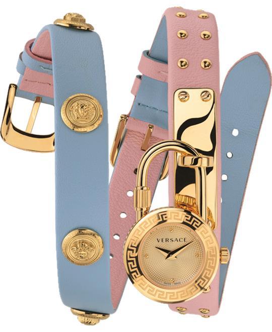 đồng hồ Versace Medusa Lock Icon Bule & Pink 21.5mm