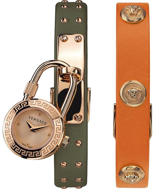 đồng hồ Versace Medusa Lock Icon Green & Orange 21.5mm