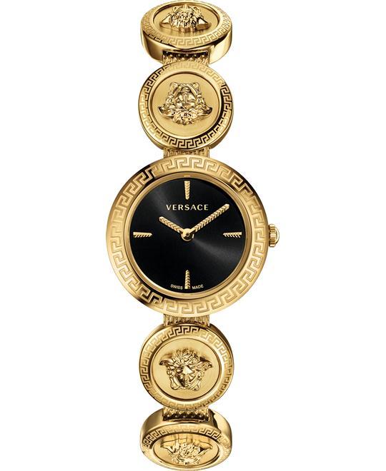 đồng hồ nữ Versace Medusa Stud Icon Black Watch 28mm