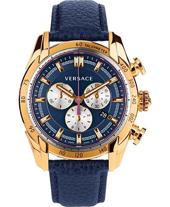 Versace V-Ray Chronograph Gold Watch 44mm