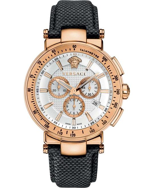 Versace Mystique Rose Gold Ion-Plated Watch 46mm