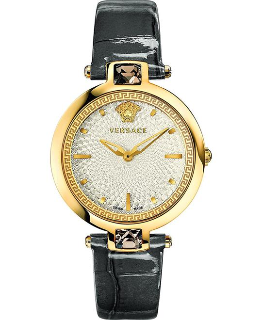 Versace Olympo Crystal Gleam Gold IP Watch 37mm