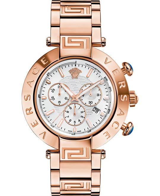 Versace Reve Chrono Rose Gold Watch 46mm