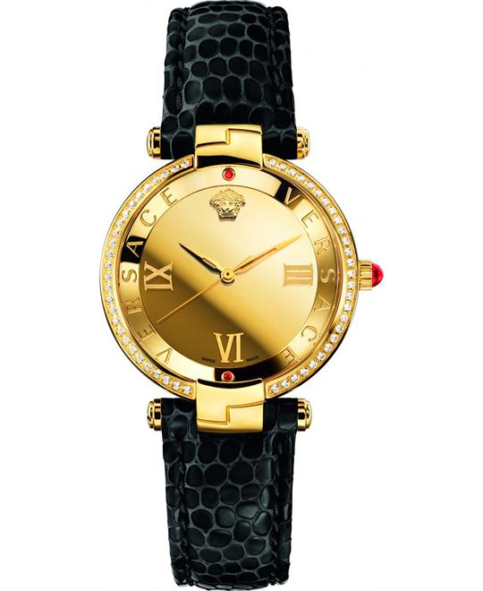 VERSACE Rêvive Gold Mirror Ladies Watch 35mm