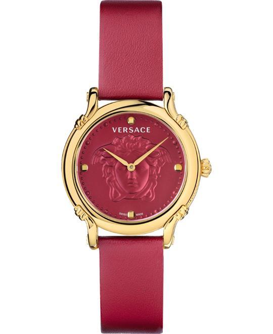 đồng hồ nữ màu đỏ Versace Safety Pin Watch 34mm