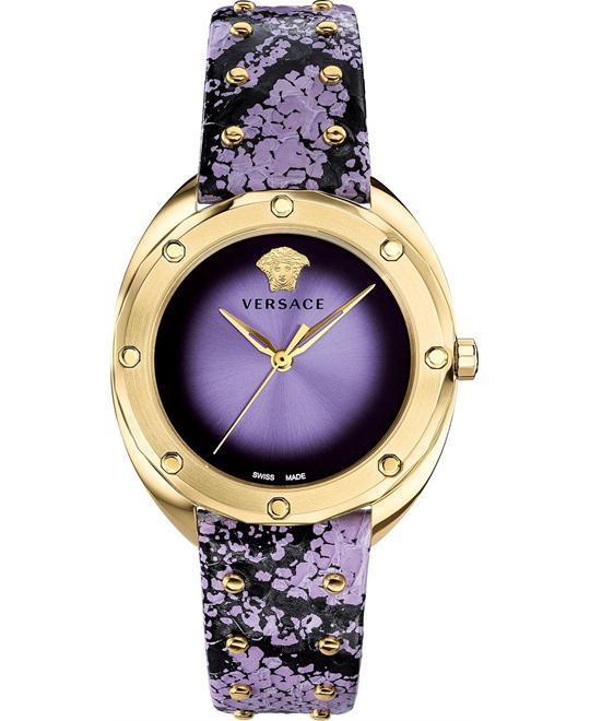 đồng hồ Versace Shadov Lavender Elaphe Watch 38mm