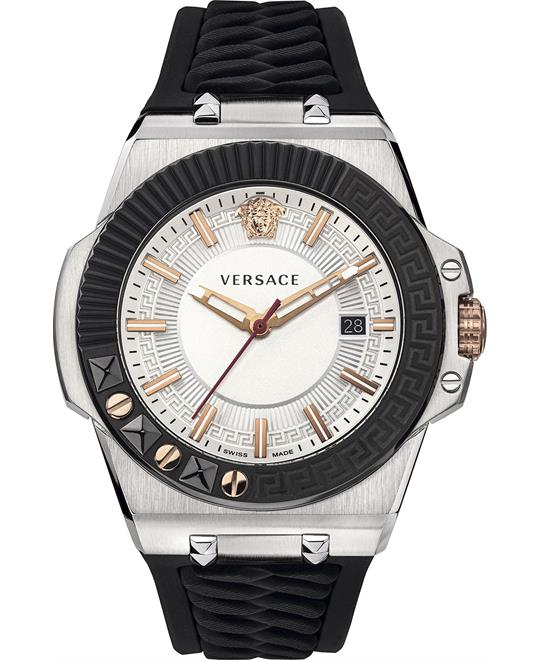 Versace Swiss Chain Reaction Black Watch 45mm