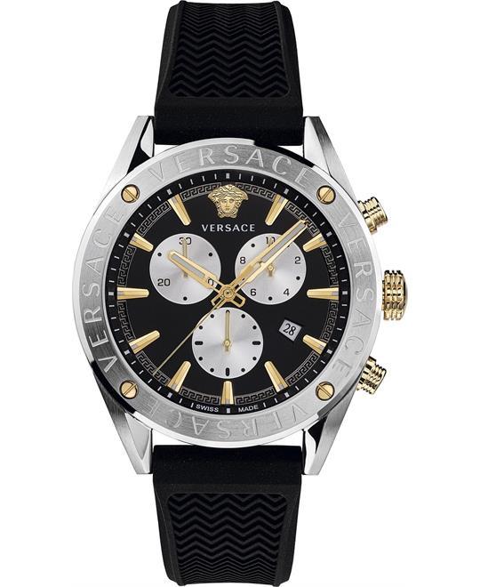 đồng hồ Versace V-Chrono Black Swiss Watch 44mm