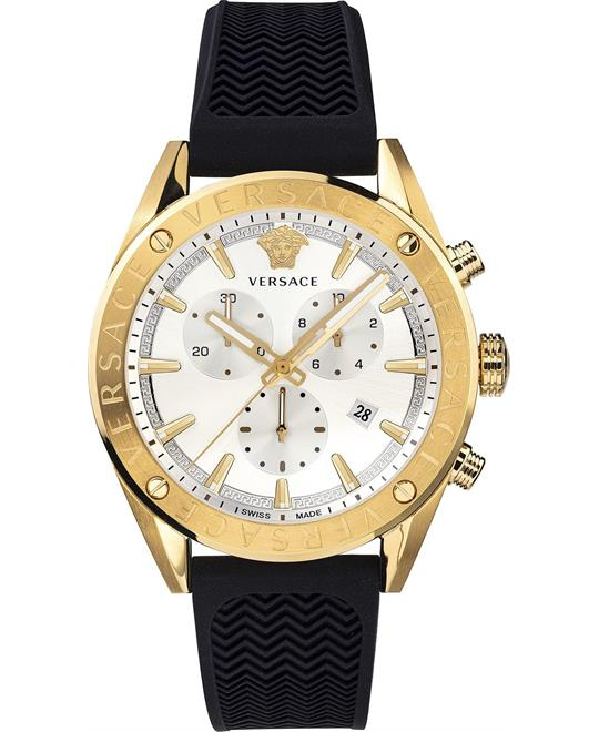 Versace V-Chrono Swiss Watch 44mm