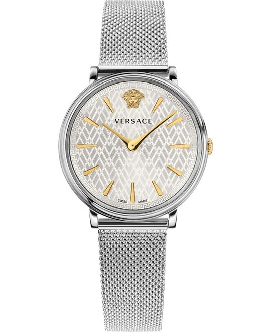 VERSACE V-Circle Stainless Steel Bracelet 38mm