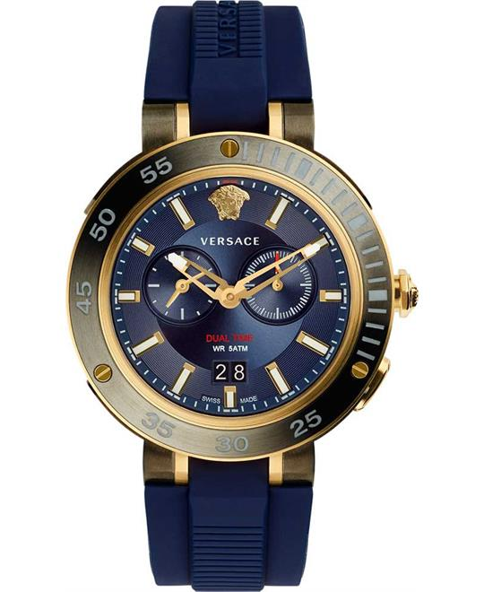 Versace V-Extreme Pro Dual Time Watch 46