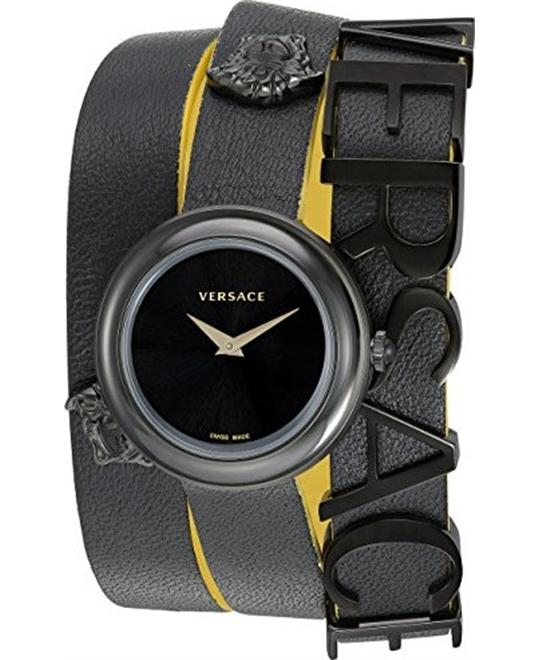 Versace V-FLARE Quartz Leather Watch 28mm