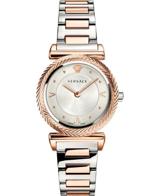 đồng hồ Versace V-Motif Rose Gold Watch 35mm