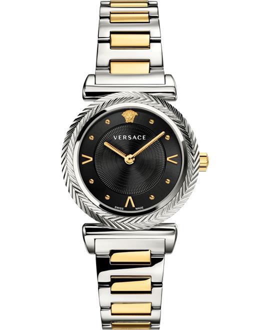 đồng hồ nữ Versace V-Motif Silver Watch 35mm