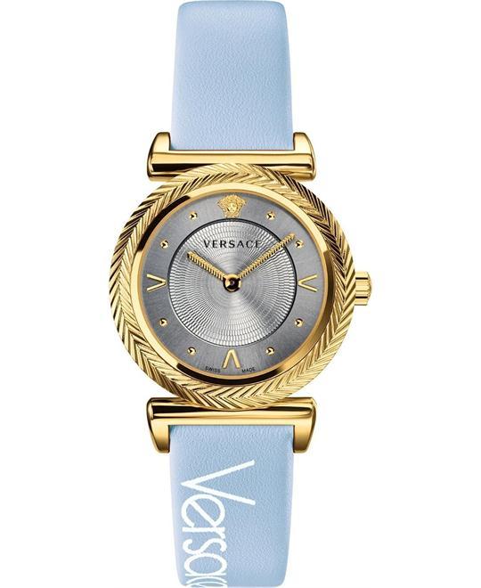 đồng hồ Versace V-Motif Vintage Logo Blue Watch 35mm