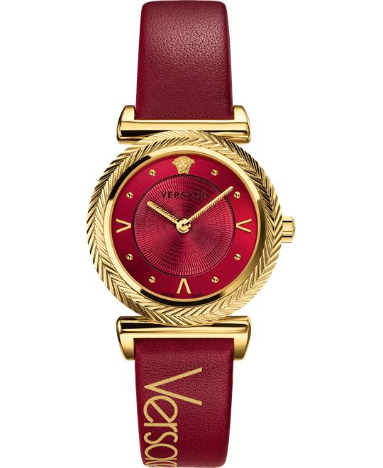 dong ho VERSACE V-MOTIF VINTAGE LOGO RED WATCH 35MM
