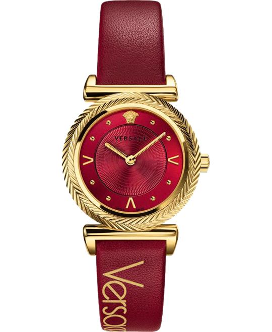 đồng hồ Versace V-Motif Vintage Logo Red Watch 35mm