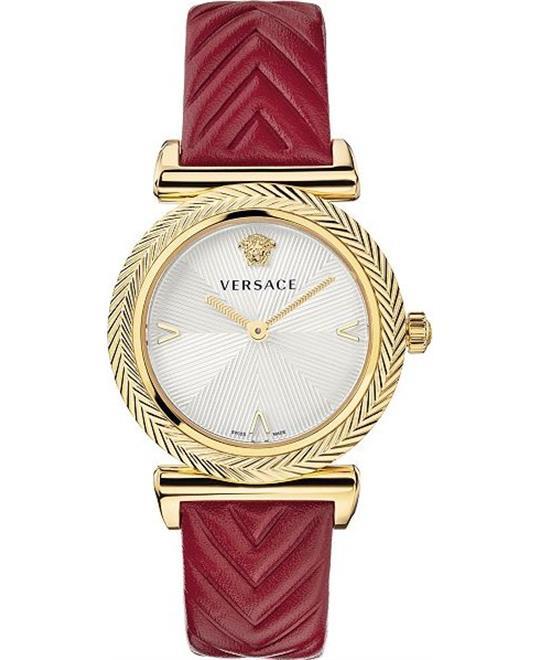 đồng hồ nữ màu đỏ Versace V-Motif Watch 35mm