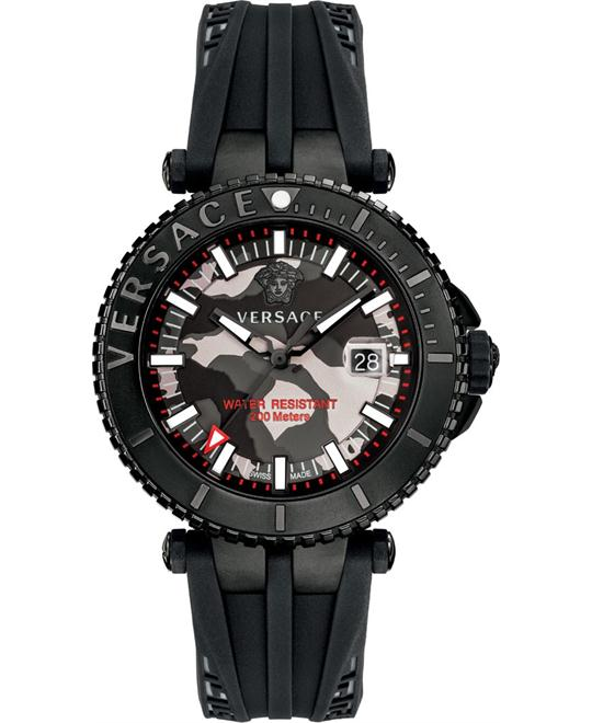 VERSACE V-Race Black Camo Watch 46mm