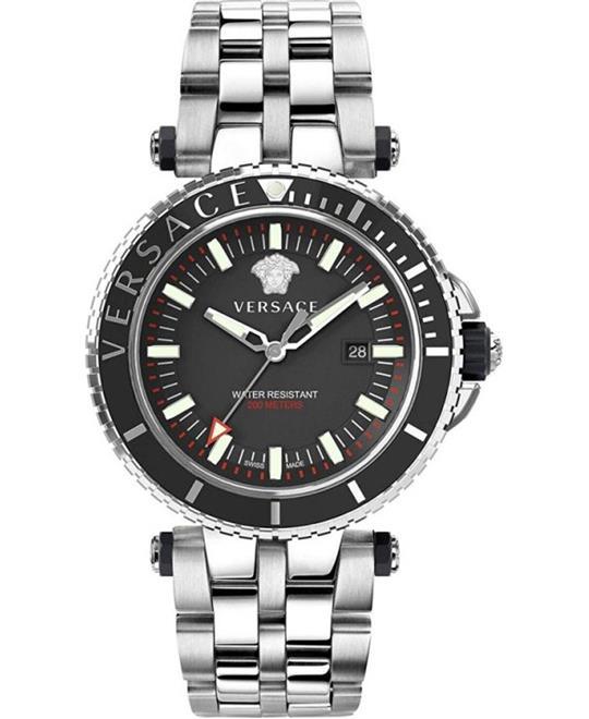 đồng hồ Versace V-Race Date GMT Watch 46mm