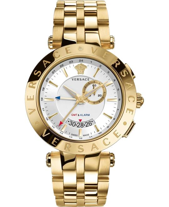 đồng hồ Versace V-RACE GMT ALARM Watch 46mm