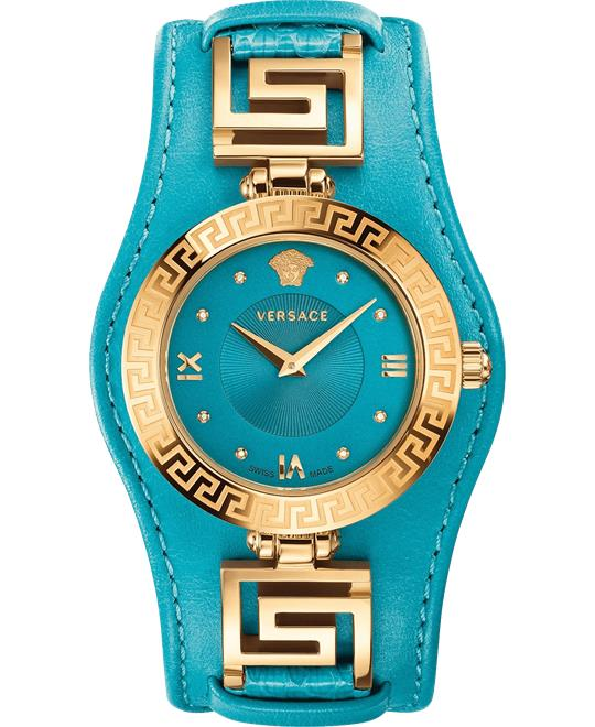 Versace V-SIGNATURE Swiss Turqoise Watch 35mm