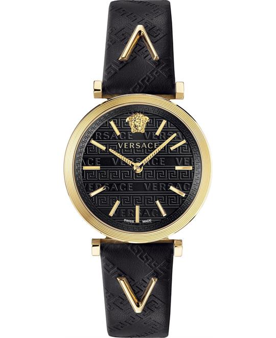 Versace V-Twist Black Swiss Watch 36mm