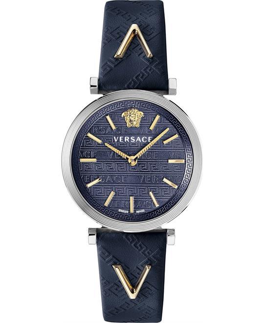 đồng hồ Versace V-Twist Blue Swiss Watch 36mm
