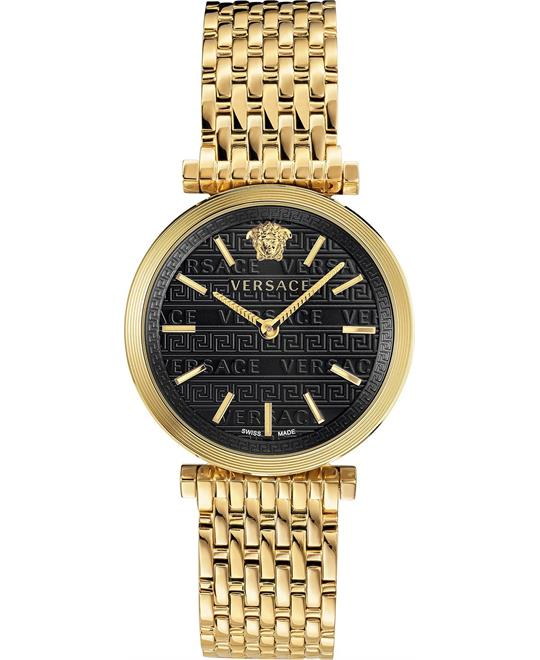 Versace V-Twist Gold-Tone Swiss Watch 36mm