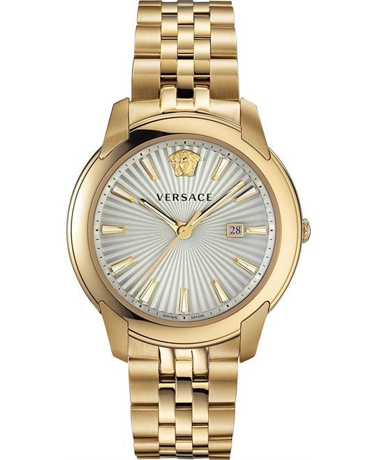 đồng hồ Versace V-Urban Gold-Tone Swiss Watch 42mm