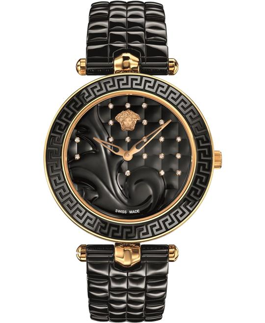 VERSACE Vanitas Black Diamond Watch 40mm