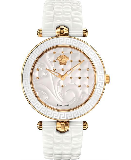 dong ho VERSACE Vanitas White Quilted Ladies Watch 40mm