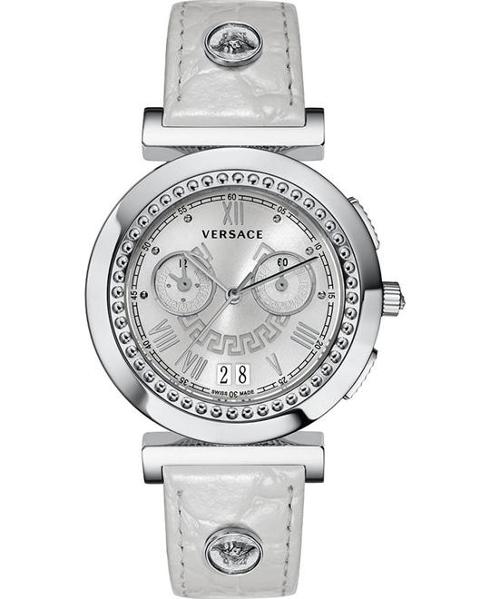 Versace Vanity Crocodile Chrono Watch 40mm
