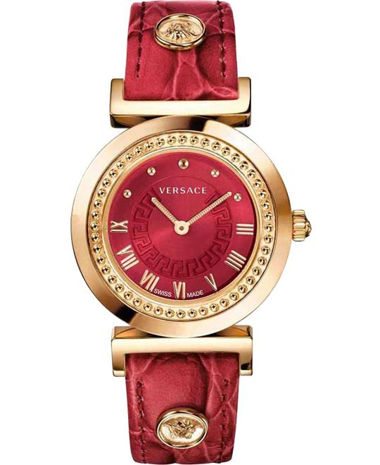đồng hồ Versace Vanity Gold Ion-Plated Watch 35mm
