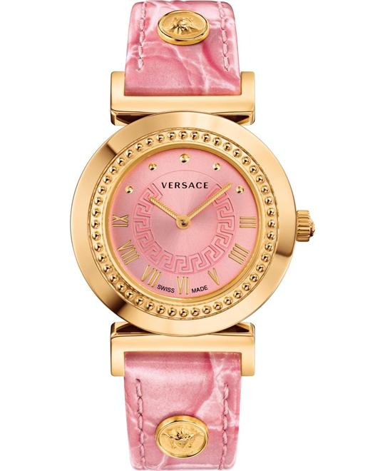 Versace VANITY Women's Analog Pink Watch 35mm