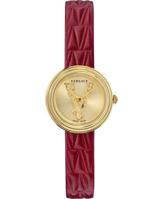 đồng hồ nữ màu đỏ Versace Virtus Watch 28mm